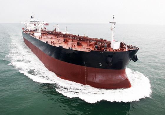 대선조선이 건조한 7만5000DWT급 석유화학제품선 전경.ⓒ대선조선