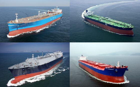 한국 조선업계가 건조한 선박들 모습.ⓒ각사