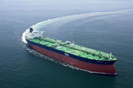 대우조선해양이 건조한 VLCC(초대형원유운반선) 전경.ⓒ대우조선해양