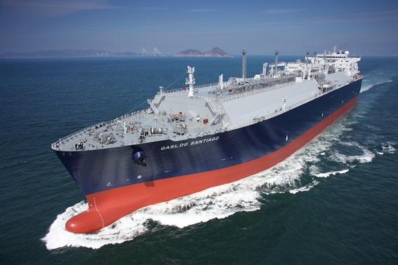 삼성중공업이 건조한 LNG선 전경.ⓒ삼성중공업