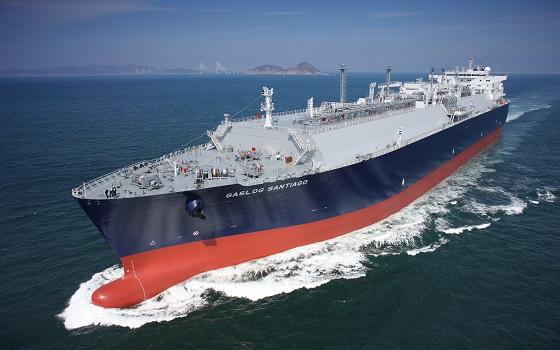 삼성중공업이 건조한 LNG선 전경.ⓒ삼성중공업.
