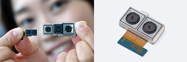 LG이노텍(좌측)과 삼성전기의 카메라모듈 ⓒ각사취합