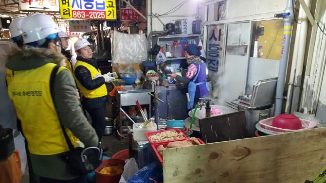 서울 구로구 대림시장 점검모습ⓒ화재보험협회