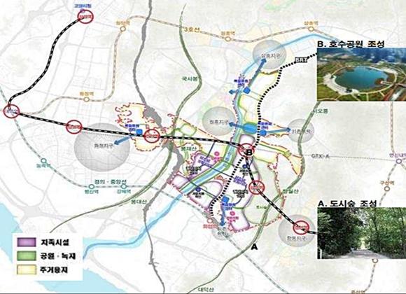 창릉 신도시 교통계획 중 일부ⓒ국토부