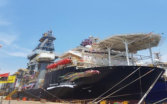 대우조선해양은 지난 17일 거제 옥포조선소에서 앙골라 국영석유회사 소난골이 발주한 드릴십 2호기에 대한 인도서명식 및 명명식을 개최했다.ⓒEBN