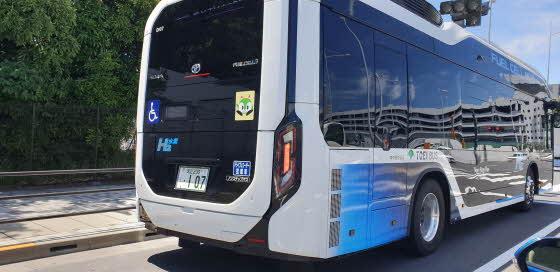 도쿄 도심을 운행하고 있는 수소버스