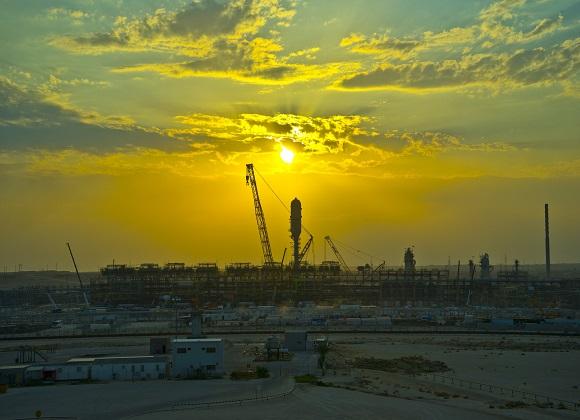 현대건설, 사우디 우쓰마니아 에탄 회수처리시설현장 전경.