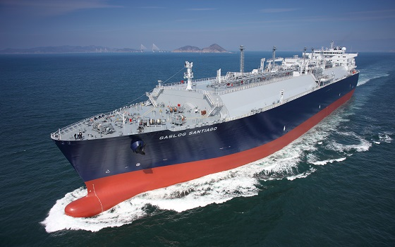 삼성중공업이 건조한 액화천연가스(LNG)선 전경.ⓒ삼성중공업