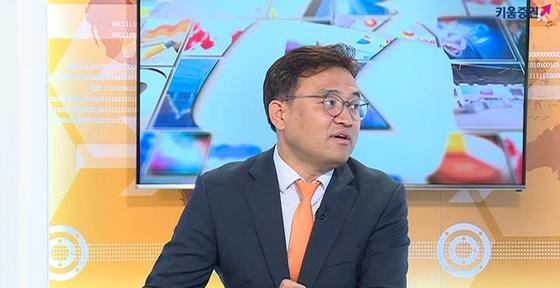채널K에서 아침시황 방송 중인 서상영 투자전략팀장.ⓒ키움증권