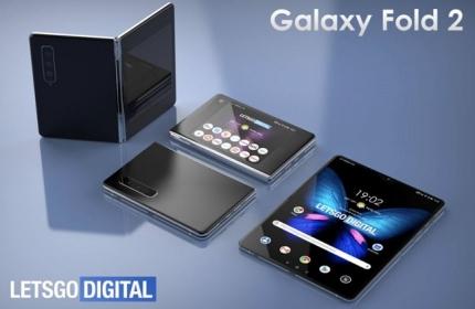 렛츠고디지털이 삼성전자 디자인 특허를 바탕으로 자제 제작한 갤럭시폴드2 렌더링 이미지ⓒ렛츠고디지털