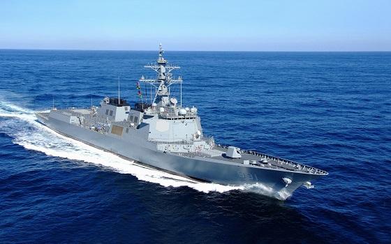현대중공업이 지난 2008년 해군에 인도한 우리나라 최초 이지스 구축함 세종대왕함.ⓒ현대중공업