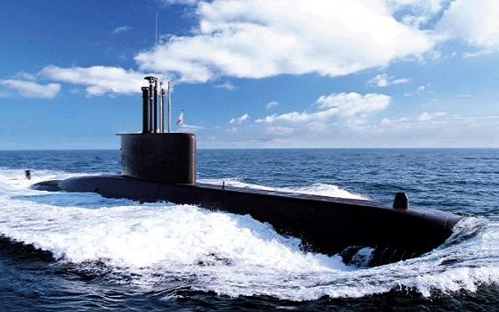 대우조선해양이 건조한 장보고-I급 잠수함.ⓒ대우조선해양