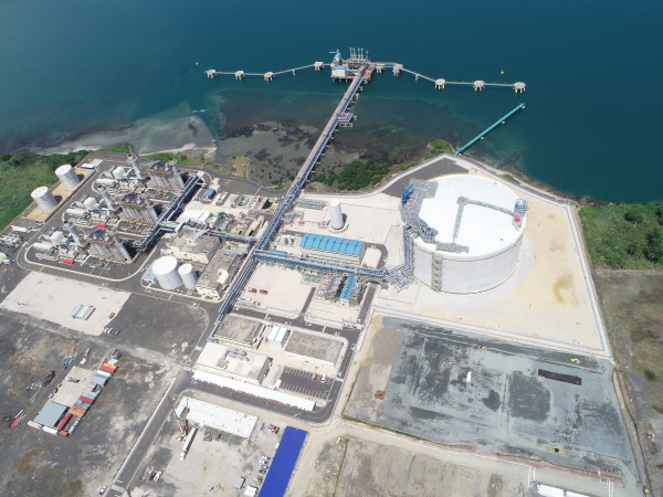 파나마 쿨론 LNG 프로젝트 전경. ⓒ포스코건설