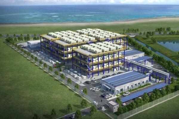 한화에너지 수소연료전지 발전소 조감도