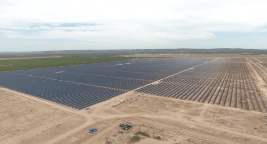미국 텍사스 페코스 카운티 태양광 발전소[사진제공=한화큐셀]