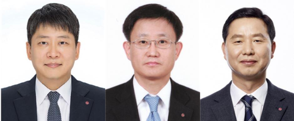 (왼쪽부터) 김동명 부사장, 노국래 부사장, 차동석 부사장.