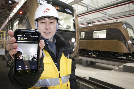 SK텔레콤이 인천도시철도 LTE-R(철도통합무선통신서비스) 구축 사업자로 선정됐다고 밝혔다. ⓒSKT
