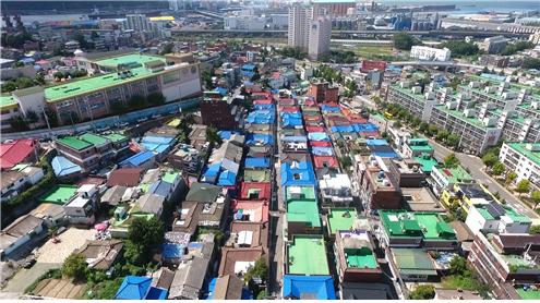 코람코자산신탁이 재개발 추진예정인 인천 중구 송월 주택재개발구역 일대 ⓒ코람코자산신탁
