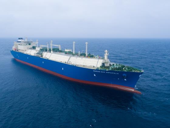 대우조선해양이 건조한 그리스 마란가스사 LNG운반선의 운항 모습. ⓒ대우조선해양