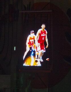 SK나이츠 선수들의 3D 홀로그램 모습.ⓒSK텔레콤