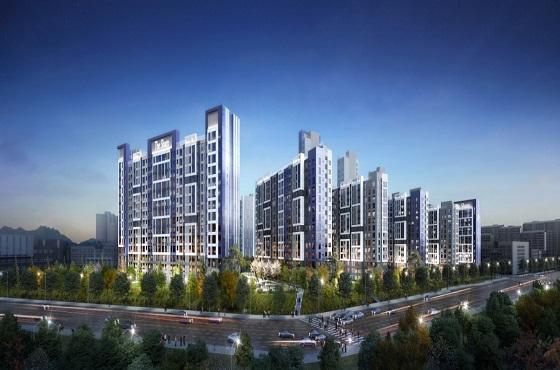 용인 수지 초입마을 아파트 리모델링 사업 투시도.ⓒ포스코건설