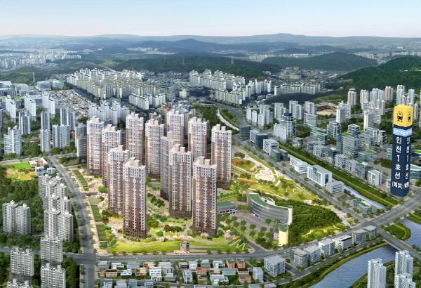 동양건설산업이 공급하는 인천 검단파라곤 센트럴파크 조감도. ⓒ동양건설산업