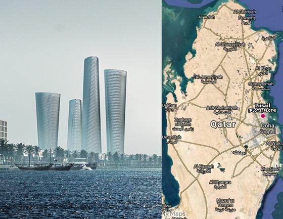 루사일 플라자 타워 및 카타르 전도.ⓒ현대건설