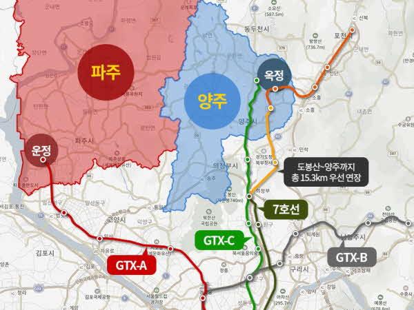 경기 북부 광역 교통 신설 노선 예상 그래픽. ⓒ더피알