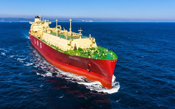 현대중공업이 건조한 18만㎥급 액화천연가스(LNG)선 프리즘 어질리티호.ⓒ현대중공업