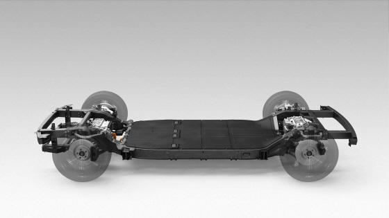 카누 개발 전기차 스케이트보드 플랫폼ⓒ현대기아차