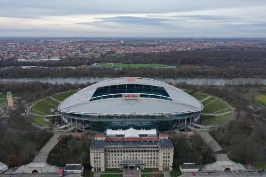 독일 프로축구 분데스리가의 RB라이프치히 구단의 홈구장인 레드불 아레나(Red Bull Arena).