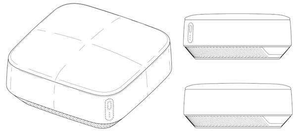 삼성전자가 특허청에 등록 완료한 새로운 차량용 공기청정기 디자인 ⓒ특허청
