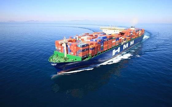 현대상선이 보유한 컨테이너선이 바다를항해하고 있다.ⓒ현대상선