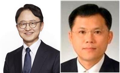 경계현 삼성전기 대표이사(좌)와 강봉용 부사장