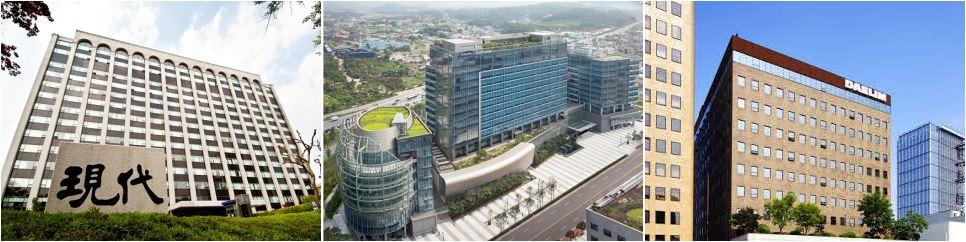 현대건설·삼성물산·대림산업 사옥 전경. ⓒ현대건설·삼성물산·대림산업