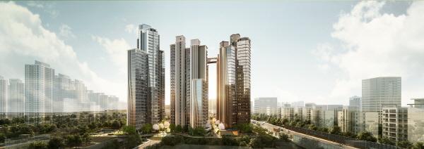 서울 서초구 반포동 신반포 15차 재건축으로 들어서는 래미안 원 펜타스 조감도.ⓒ삼성물산