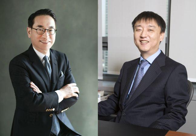 (좌) 홍원표 삼성SDS 대표이사 사장, (우) 이준호 NHN 회장. ⓒ각사