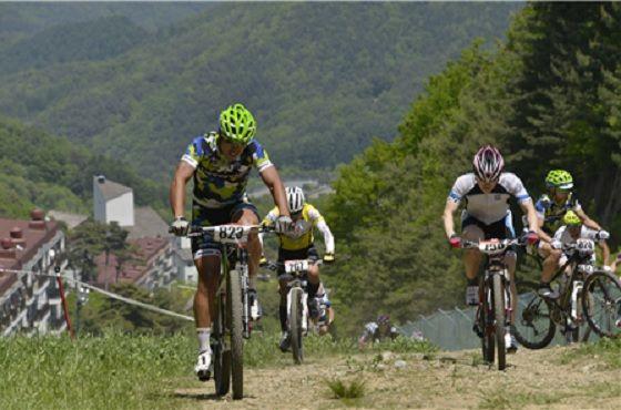 산악자전거 경주 모습, 본문 대회와 무관함.ⓒ부영그룹
