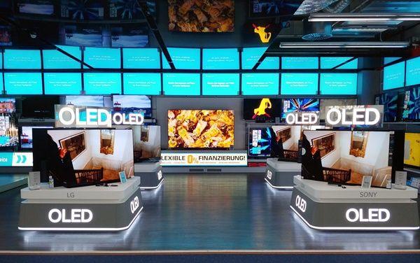독일 베를린 자툰 매장에 마련된 OLED TV 공용존ⓒLG디스플레이