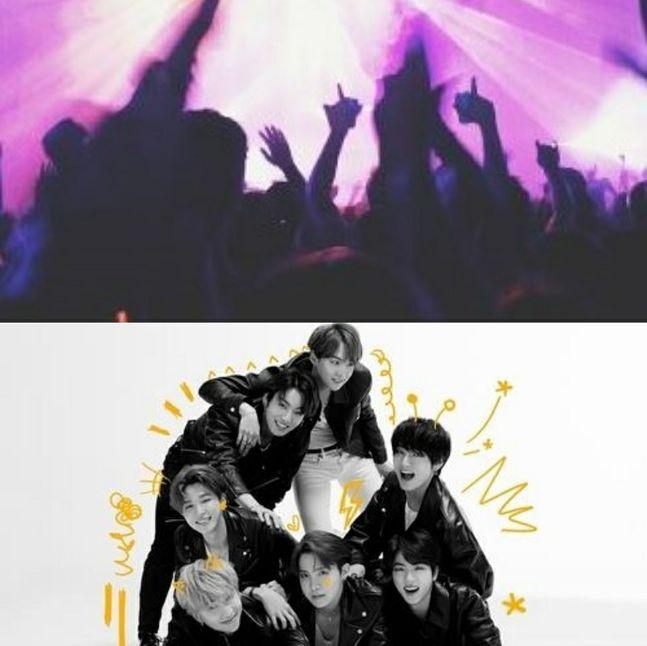 콘서트 이미지 및 BTS 사진ⓒ픽사베이&빅히트엔터테인먼트