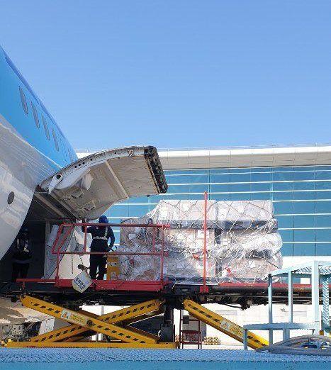 (주)한진 인천~나리타 항공화물 특별 전세기 운송 참여 모습ⓒ한진
