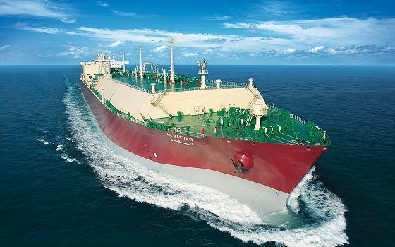 삼성중공업이 건조한 액화천연가스(LNG) 운반선이 바다를 항해하고 있다.ⓒ삼성중공업