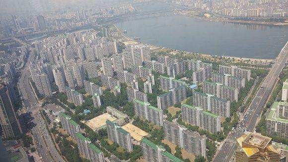 서울 한강 인근 아파트 단지 전경.ⓒEBN