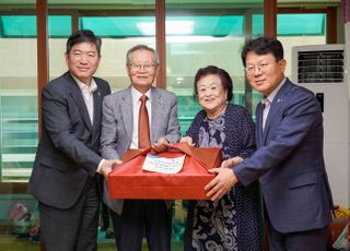 [포토]김광수 NH농협금융 회장, 6.25 참전유공자 위문 방문