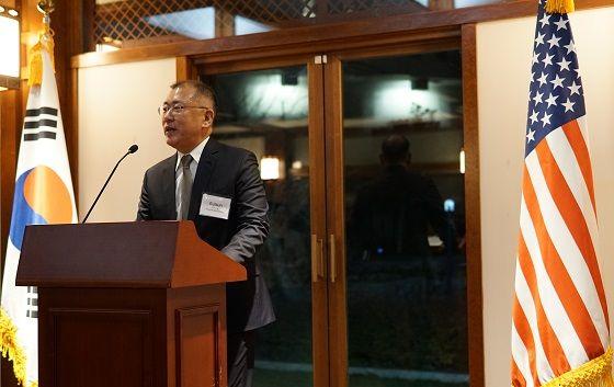 정의선 수석부회장이 지난 2월 미국 워싱턴 D.C.주미한국대사관저에서 열린