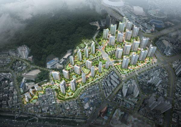 부산광역시 연제구 거제2동 802번지 일원에 들어서는 레이카운티 조감도.ⓒ삼성물산·대림산업·HDC현대산업개발