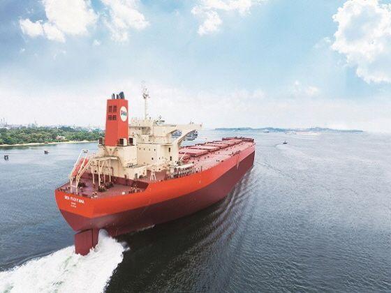 팬오션이 보유한 벌크선이 바다를 항해하고 있다.ⓒ팬오션