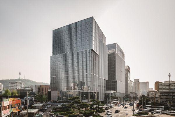 서울 을지로 대우건설 사옥 전경.ⓒ대우건설