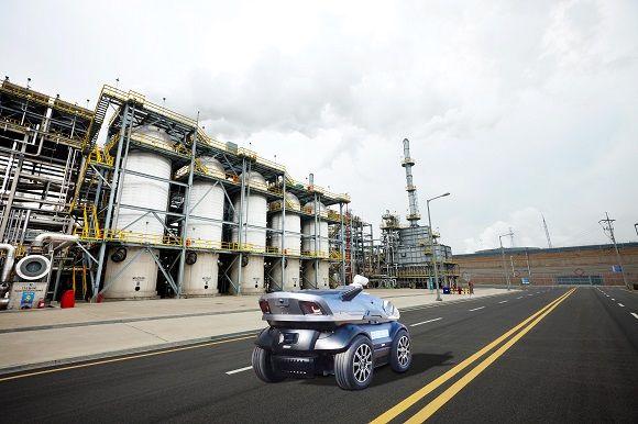 현대오일뱅크 대산공장에서 운영될 자율주행 순찰차(상상도)