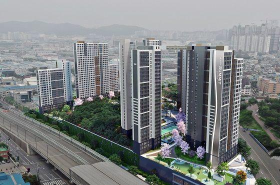 인천 송현1·2차아파트 주택재건축정비사업 조감도.ⓒ호반건설